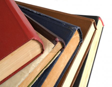 Photo for Stack of old books Red book - Royalty Free Image