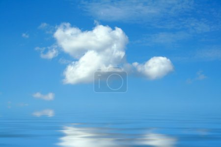 Photo for Blue sky with white clouds and water - Royalty Free Image