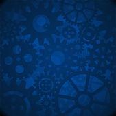 Blue Gears Background EPS 10 AI JPEG