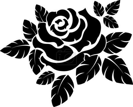 Illustration pour Silhouette vectorielle en sose isolée sur blanc . - image libre de droit