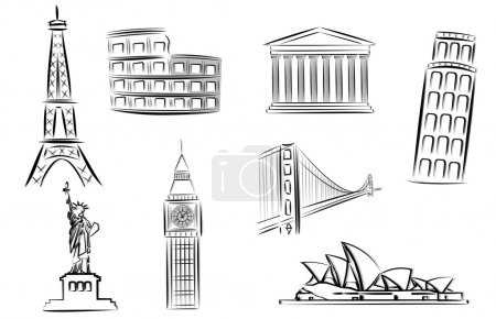 Photo for Landmark vector illustrations - Royalty Free Image