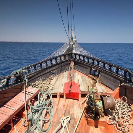 Photo for Detail of pirate ship in Tunisia - Royalty Free Image