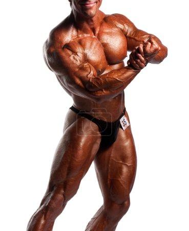 Bodybuilders posing
