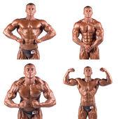 Bodybuilders flexing