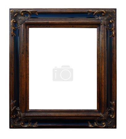 Foto de Marco decorativo de madera antiguo, aislado (interior, exterior) sobre fondo blanco. - Imagen libre de derechos