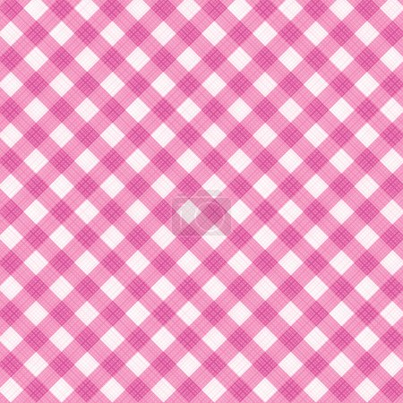 Pink gingham fabric cloth, seamless pattern included