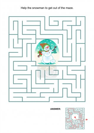 Maze game for kids - snowman