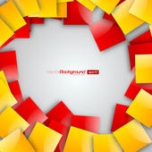 Yellow and Red Squares blank background - Vector Design Concept
