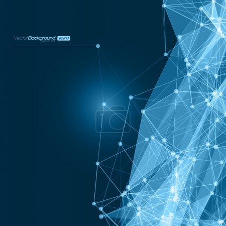 Illustration pour Futuristic Abstract Blue Modern Network Background. Illustration vectorielle - image libre de droit