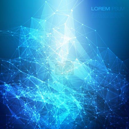 Illustration pour Futuristic Abstract Blue Modern Lines Arrière-plan Illustration vectorielle - image libre de droit