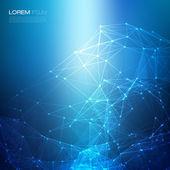 Modrá na vektorové pozadí abstraktní sítě