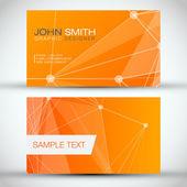 Orange Modern Business-Card Set