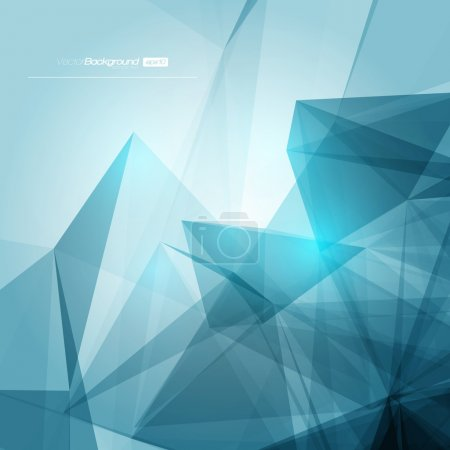 Illustration for 3D Abstract Geometric Background for Design - Royalty Free Image