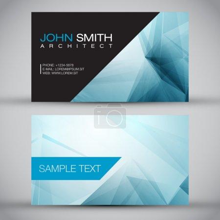 Blue Modern Business-Card Set