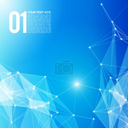 Illustration for 3D Blue Abstract Mesh Background with Circles, Lines and Shapes. EPS10 Design Layout for Your Business - Royalty Free Image