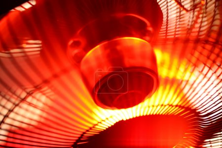 Close up of an electric Industrial Fan...