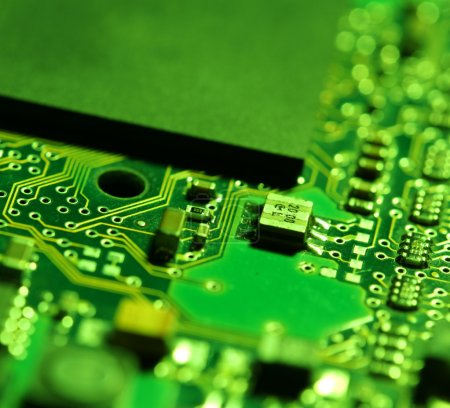Photo for Close up of an electronic circuit board - Royalty Free Image