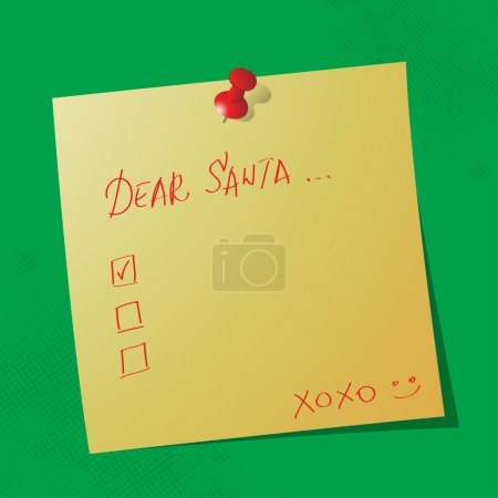 Dear santa handwritten message