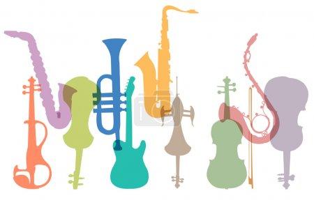 Illustration pour Instruments de musique abstraits - image libre de droit