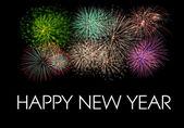 šťastný nový rok ohňostrojem