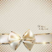 Holiday banner with ribbons Vector background