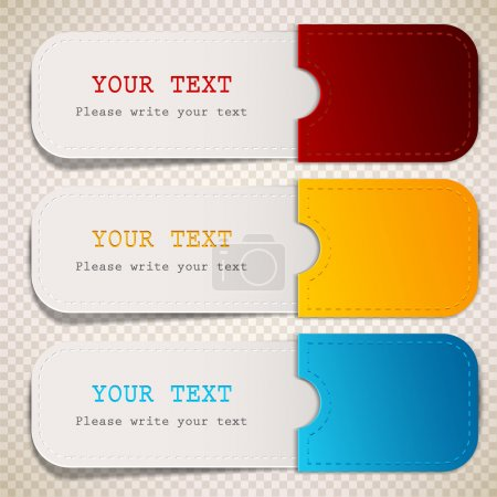 Colorful bookmarks with place for text