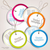 Set of bubbles stickers labels tags Vector template