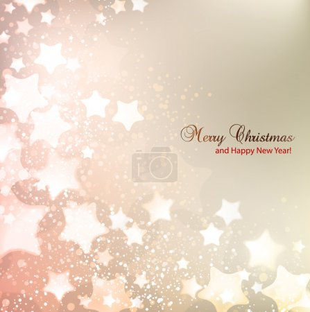 Illustration for Elegant Christmas background with stars and place for text. Vector Illustration. - Royalty Free Image