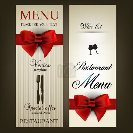 Menu design for Restaurant or Cafe. Vintage vector template