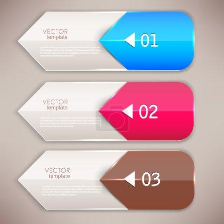 Ilustración de Marcadores de colores y flechas para texto - Imagen libre de derechos