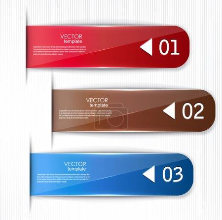 Ilustración de Conjunto de marcadores, etiquetas engomadas, etiquetas, etiquetas. plantilla vector para infografía - Imagen libre de derechos