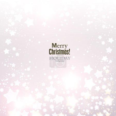 Elegant Christmas background with stars.