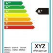 Dishwasher machine energy rating graph label in ve...