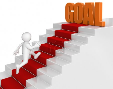 Photo for Businessman run to goal - Royalty Free Image