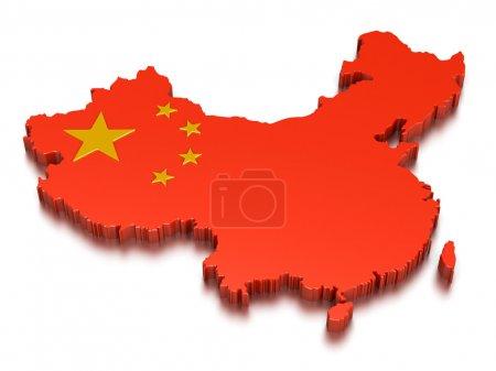 Photo pour Carte de Chine - image libre de droit