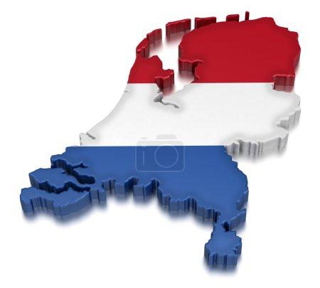 Photo pour Pays-Bas carte - image libre de droit