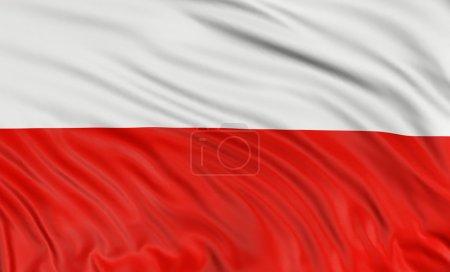 Photo pour Drapeau polonais 3D - image libre de droit