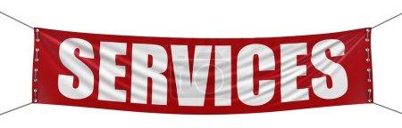 Photo pour Bannière Services - image libre de droit