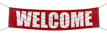 Photo pour Bannière de bienvenue - image libre de droit