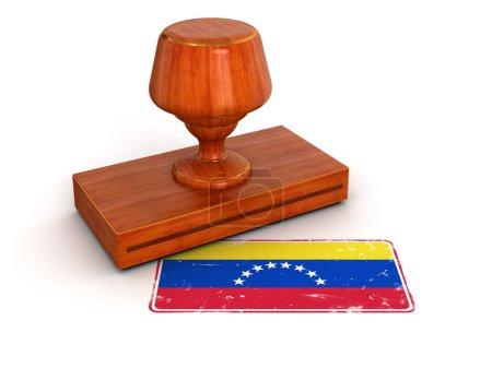 Rubber Stamp Venezuela flag