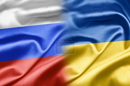 Photo pour La Russie et les nations du monde. une série d'images avec le drapeau russe. Comment rechercher les doubles drapeaux ? à mon portefeuille il suffit de taper le nom des deux pays. dans ma combinaison de portefeuille de tous les pays. collection est renouvelée régulièrement - image libre de droit
