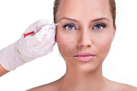Botox correction upper lids