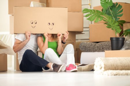 Photo for Couple moving into new home - Royalty Free Image