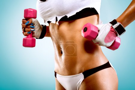 Photo for Sexy lady doing exercise - Royalty Free Image