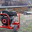 The portable diesel generator on site, emergency e...