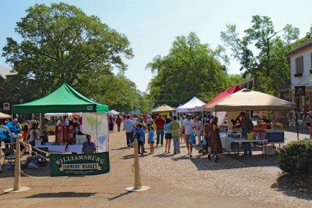 The Williamsburg Farmers Market in Merchants Square