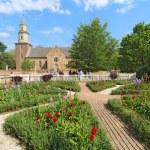 WILLIAMSBURG, VIRGINIA - APRIL 21 2012: Gardens of...