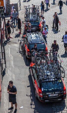 Rouen,France- July 5th, 2012: The cars fo BMC prof...