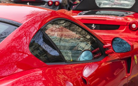 Abstract Ferrari Red