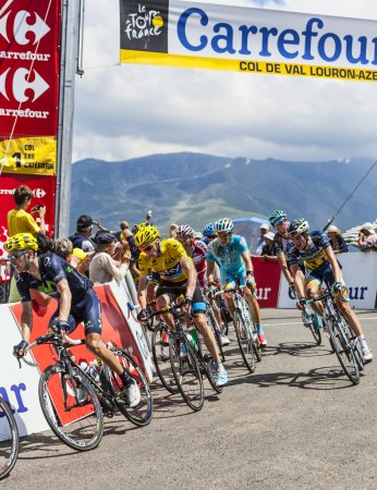 Col de Val Louron-Azet, France- July 07,2013: The ...
